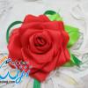 Sekar asih, bros bunga mawar satin