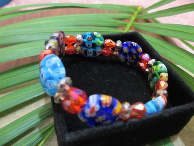 Gelang kristal batu mata kucing motif