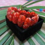 Gelang batu mata kucing orange motif