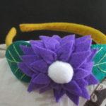 Bando krisan flanel ungu