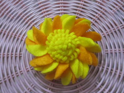 Bross Korsase Krisan Orange Yellow