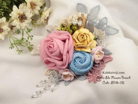 Alvina Eda Flowers Brooch Eda-02