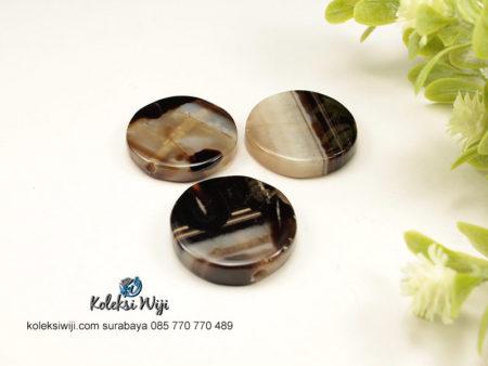 1 Buah Batu Manau Bundar Hitam 2,5 cm BT12