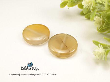 1 Buah Batu Manau Bundar Kuning 2,5 cm BT34