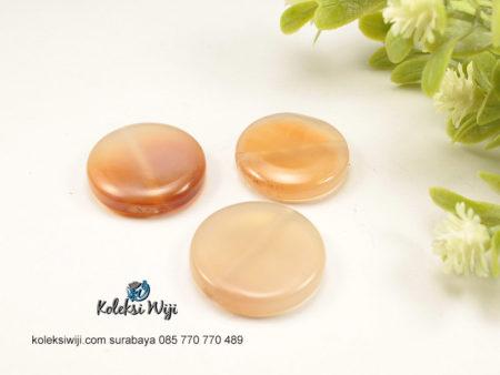 1 Buah Batu Manau Bundar Pink 2,5 cm BT35