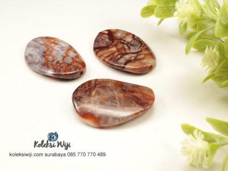 1 Buah Batu Manau Oval Coklat 2,5 X 3,5 cm BT11