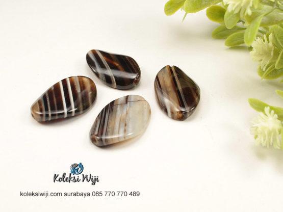 1 Buah Batu Manau Oval Garis 1,5 x 2,5 cm BT9
