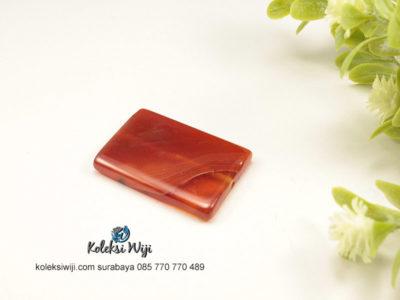1 Buah Batu Manau Persegi Panjang Coklat 2,4 x 3,4 cm BT4