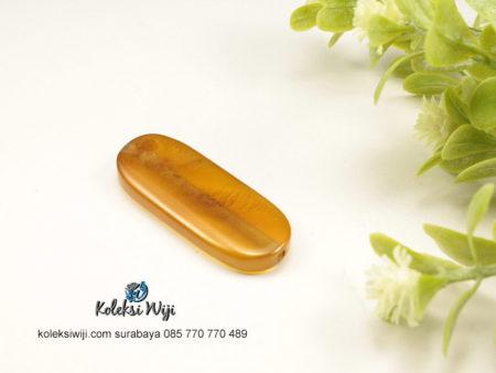1 Buah Batu Manau Persegi Panjang Kuning 1,4 x 4 cm BT1