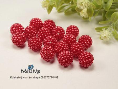 12 Butir Mutiara Berry 14 Merah AK45
