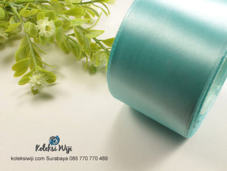 1 Roll Pita Satin 2 inch Atau 5 cm Soft Blue PT13