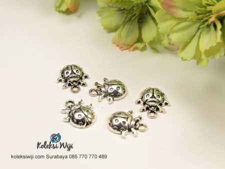 5 Buah Liontin Ladybug Nikel BP36