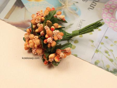 1 Ikat Putik Bunga Kombinasi Orange IK01