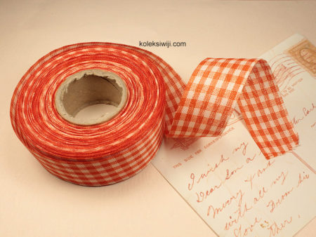 1 Roll Pita Gingham Orange 1 Inch PT31