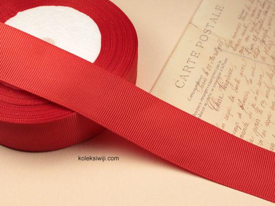 1 Roll Pita Grosgrain Merah 1 Inch PT53
