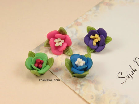 6 Buah Clay Bunga Putik 1,8 cm CY12