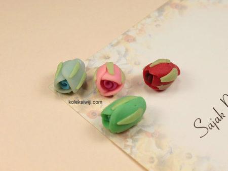 6 Buah Clay Kuncup Bunga 1,5 cm CY3