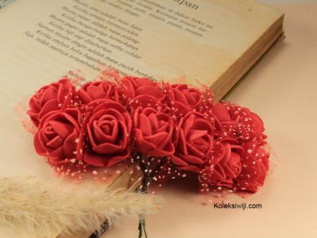 1 Ikat Bunga Mawar Spon Merah IK20