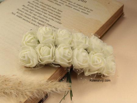 1 Ikat Bunga Mawar Spon Putih IK16