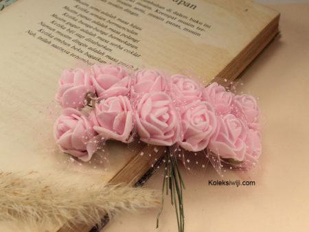 1 Ikat Bunga Mawar Spon Soft Pink IK17