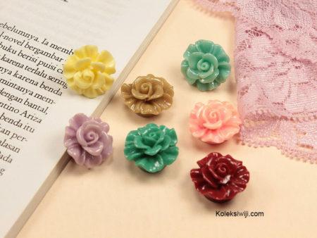5 Buah Resin Bunga Begonia 2 cm RS63