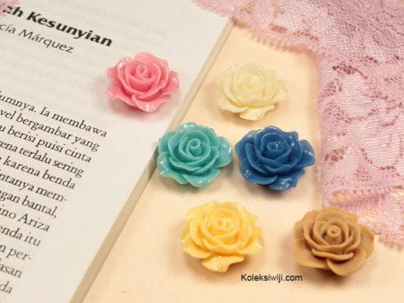 5 Buah Resin Bunga Mawar 2,5 cm RS73