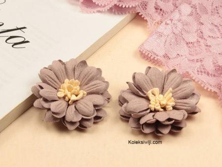 1 Buah Bunga Suede Aster Dusty Pink 4 cm IK98