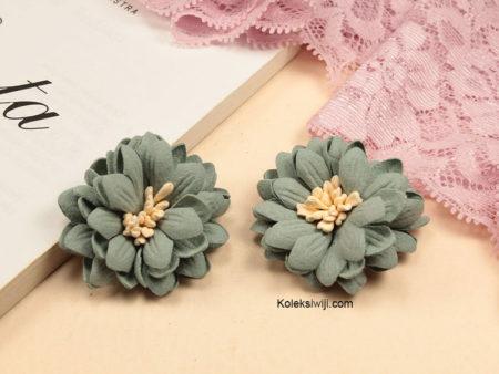 1 Buah Bunga Suede Aster Mint 4 cm IK94