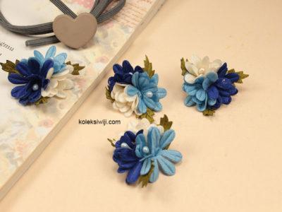 10 Buah Bunga Krisan Biru 3 cm IK72