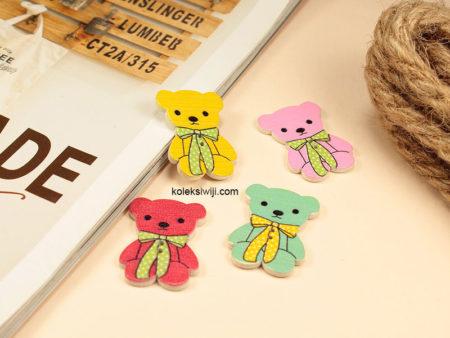 10 Buah Kancing Teddy 4 cm KK04