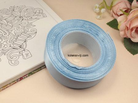 1 Roll Pita Satin 2,5 cm Biru Langit PT92