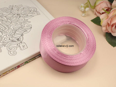 1 Roll Pita Satin 2,5 cm Dusty Pink PT103