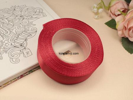1 Roll Pita Satin 2,5 cm Merah PT101