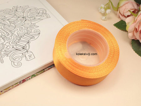 1 Roll Pita Satin 2,5 cm Orange Tua PT87