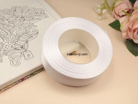 1 Roll Pita Satin 2,5 cm Putih PT104