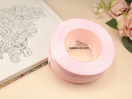 1 Roll Pita Satin 2,5 cm Soft Pink PT84