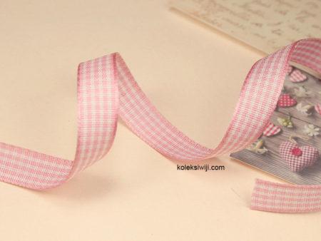 2 Yards Pita Gingham Pink 1 cm PT73