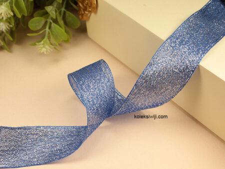 1 Roll Pita Glitter Biru Benhur 2,5 cm PT157