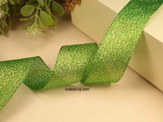 1 Roll Pita Glitter Hijau 2,5 cm PT162