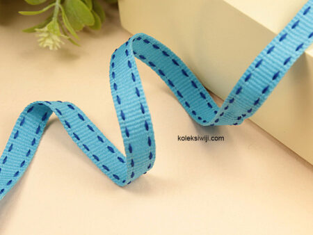 1 Yards Pita Strip 1 cm Biru PT165