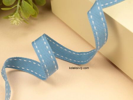 1 Yards Pita Strip 1 cm Biru PT171